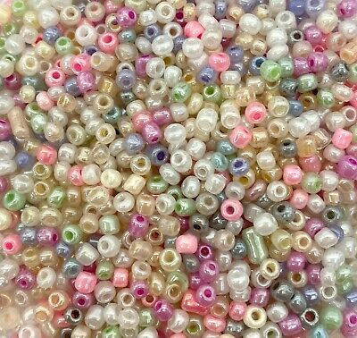 £3.25 • Buy 100g MIXED CEYLON Glass Seed Beads - Choose Size 6/0, 8/0 Or 11/0 (4, 3 Or 2mm)