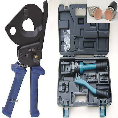 £149.98 • Buy 500mm Ratchet Cable Cutter 10+300mm Hydraulic Crimping Crimpers Ferrule Tool