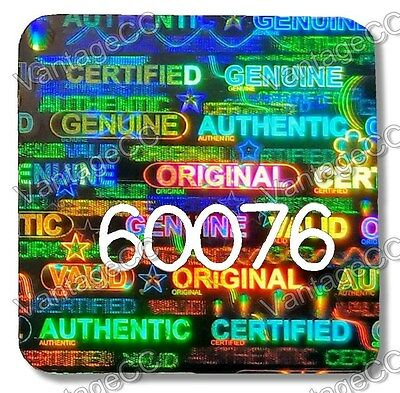 £6.69 • Buy MEDIUM 15mm Security Hologram Stickers Labels NUMBERED, Square Genuine Certified