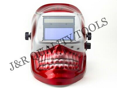 $ CDN43.68 • Buy MIG/TIG Auto Darkening Welding Helmet -Red Skull Shape Design Extra Large Lens
