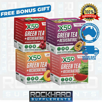 AU168 • Buy Green Tea X50 Four Pack Tribecca Health Weight Loss  Energy Detox Antioxidant