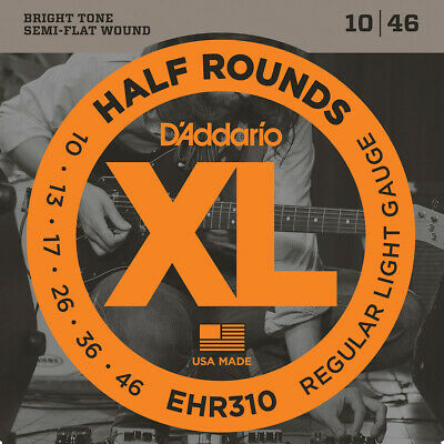 $ CDN18.59 • Buy D'Addario Guitar Strings  EHR310   Half Rounds  Light  10-46