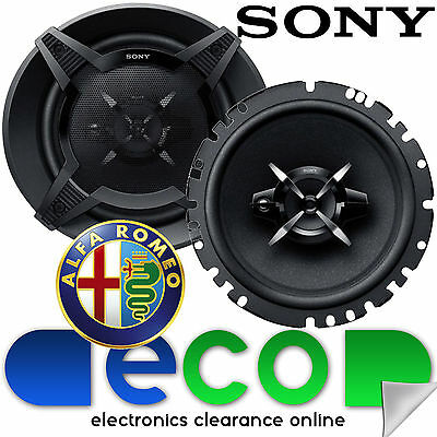 Alfa Romeo 155 1992-1997 SONY 6.5 Inch 17cm 540 Watts 3 Way Rear Car Speakers • 39.95£