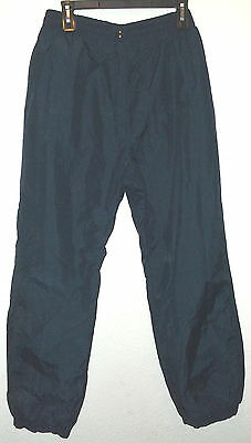 $24.99 • Buy Navy Blue Water Resistant Nylon Snow Ski Pants By Sportrax Size L