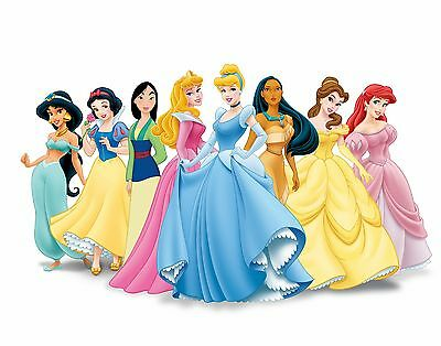Disney Princess- Kids Bedroom - Giant Wall Art Picture Poster A1,A2,A3,A4 • 4.99£