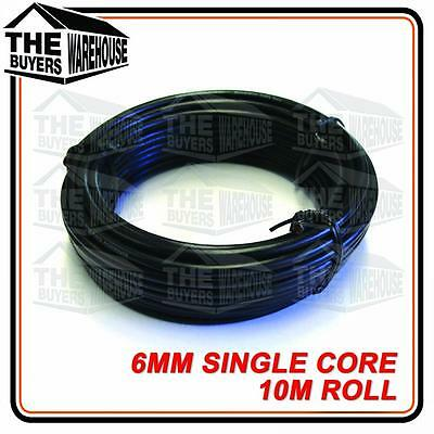 AU25 • Buy Wire 6mm Trade Single Core Automotive Wiring Cable 10 Metre Black