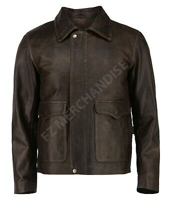 Indiana Jones Harrison Ford Classic Genuine Cow Hide Leather Jacket - ALL SIZES • 83.37£