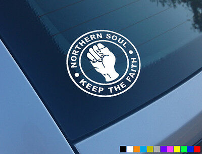 Northern Soul Keep The Faith Car Scooter Stickers Vinyl Decals Laptop Motown • 2.48£