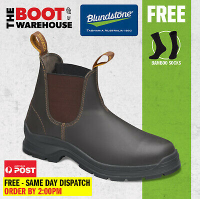 AU97.95 • Buy Blundstone 405 'Max Comfort' Work Boots. Elastic Sided, Leather, Non Safety.