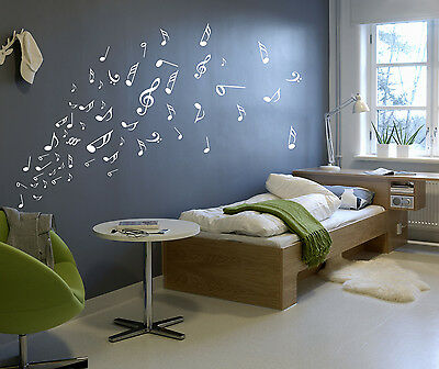 £4.49 • Buy Music Musical Melody Note Vinyl Stickers, Wall Window Art Sticker- HIGH QUALITY