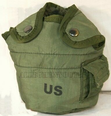$ CDN6.63 • Buy US Military Army Issue 1 QT QUART CANTEEN COVER Pouch W Alice Clips OD NYLON VGC