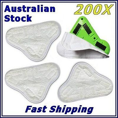 AU358 • Buy 200x BULK LOT  New H20 H2O StickOn (X5 Steam Mop) Washable Pad Microfiber