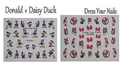Cartoon Nail Stickers – Childrens, Self Adhesive Daisy And Donald Duck - Disney • 1.99£