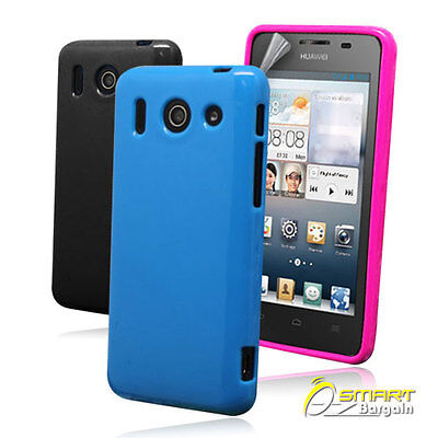 AU4.99 • Buy Candy Gel Case For Huawei Ascend G510 + Screen Guard TPU Jelly Soft Cover
