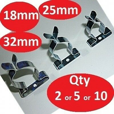 SPRING CLIPS TOOL STORAGE TERRY  CLIP 18mm 25mm 32mm Pack Of 2 Or 5 Or 10 • 2.50£