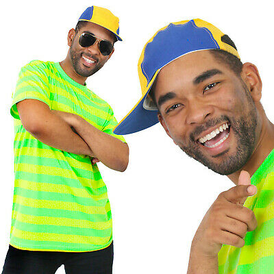AU23.16 • Buy Bel-air Prince Costume 80's 90's Fancy Dress T-shirt Cap Mens Retro Tv Character