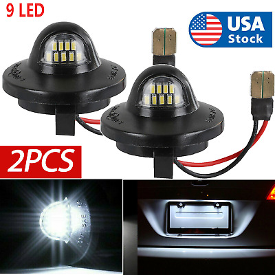 $9.79 • Buy 2x LED License Plate Light Lamp Assembly Replacement For Ford F150 F250 F350 New