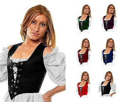 $24.50 • Buy Renaissance Victorian Costume Dress-up Medieval Corset Pirate Wench Bodice Sale