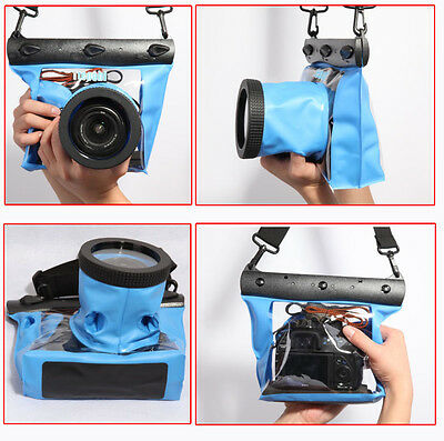 Underwater Case Waterproof DSLR SLR Camera Bag Clear Case Cover Pouch Dry Bag • 27.78£