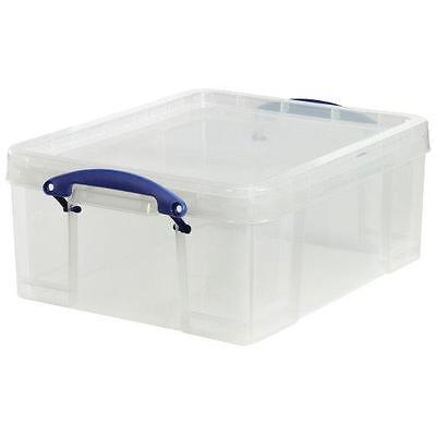 4 X 'REALLY USEFUL STORAGE BOX' 18 LITRE - NEW (HOLDS CDS AND DVDS) + 24h DEL • 38.99£