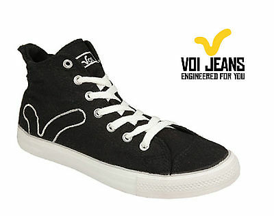 Voi Womens Canvas Pumps, Voi Girls Trainer Boots - Black - Size 3-8 • 13.99£