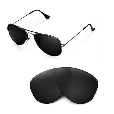 22dd84536e New Walleva Polarized Black Lenses For Ray-Ban Aviator RB3044 Small Metal  52mm • 19.99