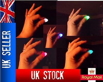 £2.47 • Buy 2x Magic Light Up Thumbs Fingers MULTI-COLOURED Flashing Trick Appearing Light