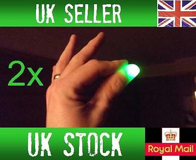 £2.69 • Buy 2x Magic Light Up Thumbs Fingers GREEN Trick Appearing Light