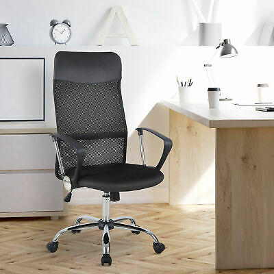 £49.99 • Buy HOMCOM Executive Office Chair High Back Mesh Chair Seat Office Desk Chairs