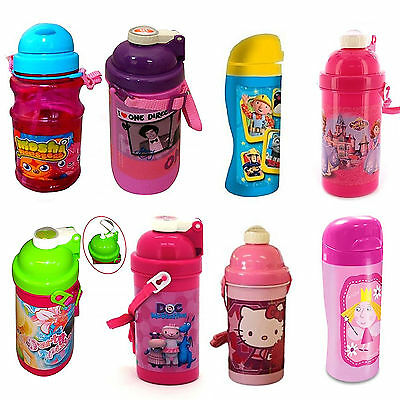 Dinsey & Kids TV Character School Lunch Drink Pop Up Canteen Water Bottle New • 5.06£