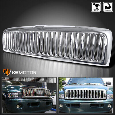 $82.38 • Buy For 1994-2001 Dodge Ram 1500 2500 3500 Front Vertical Chrome Hood Grille Cover