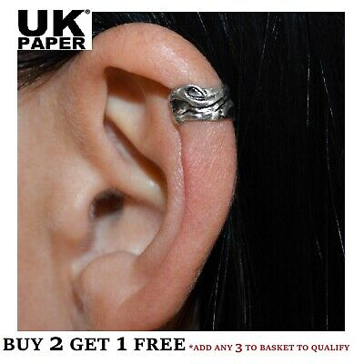 New Silver Wave Design Ear Cuff Helix Cartilage Clip-on Earring Punk Gothic Emo • 1.99£