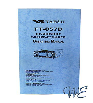 AU11.34 • Buy NEW Yaesu FT-857D Operating Manual Book In English