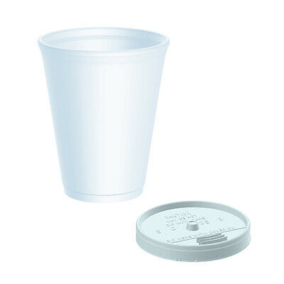 £9.49 • Buy 7oz Insulated Polystyrene Cups X 100 Sip Through Lids - DART