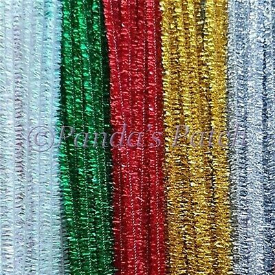 Tinsel Glitter Craft Stems Pipe Cleaners 12  30cm Free Post • 2.89£