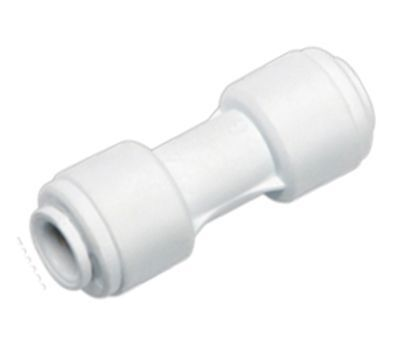 Fridge Water Pipe Straight Connector 1/4  To 1/4  With Built In Push Fitting 6mm • 2.49£