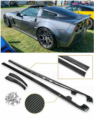 $348.50 • Buy For 05-13 Corvette C6 Z06 | ZR1 CARBON FIBER Side Skirts Rocker Panels Body Kit