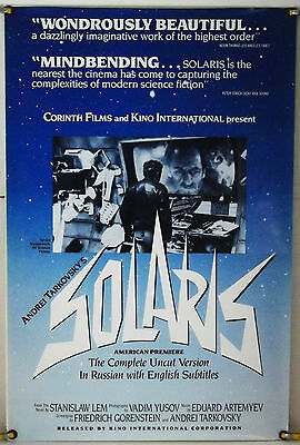 $99.99 • Buy Solaris Rolled Orig 1sh Movie Poster Andrei Tarkovsky Kino Rr80's (1972)