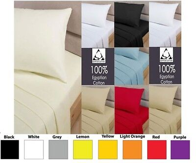100% Egyptian Cotton Extra Deep Fitted Sheet 16  Drop 40cm Fit In All Sizes  • 3.99£