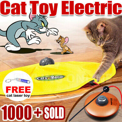 AU21.85 • Buy Electronic Cat Toy Fabric Cat's Meow Undercover Fabric Moving Mouse Fun AU