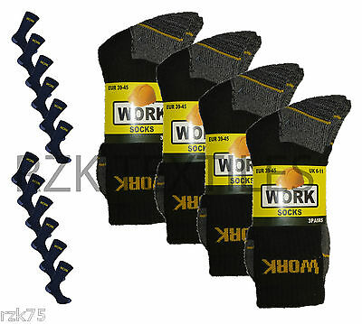 £9.95 • Buy New 12 Pairs Mens Ultimate Work Boot Socks Size 6-11 Cushion Sole Reinforced Toe