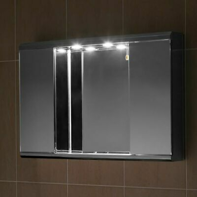 Stainless Steel Bathroom Cabinet  Mirror With Down Lights G2ILLN • 87.57£