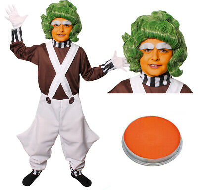 £15.99 • Buy Childs Factory Worker Costume And Wig Face Paint Book Week Character Fancy Dress