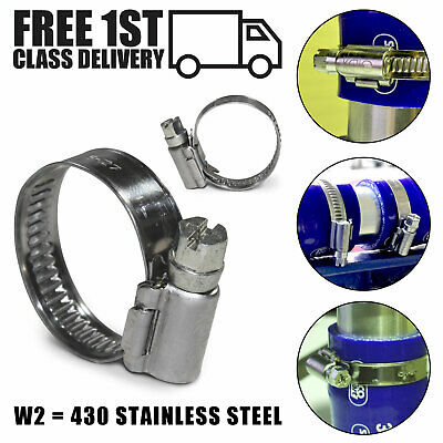 £1.79 • Buy Jubilee Worm Drive Clamps 430 Stainless Steel Silicone Hose Fuel Pipe Clips