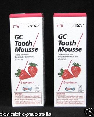 AU64.30 • Buy GC Tooth Mousse X2  Relieves Whitening Sensitivity, Dry Mouth,conditions  (S2)