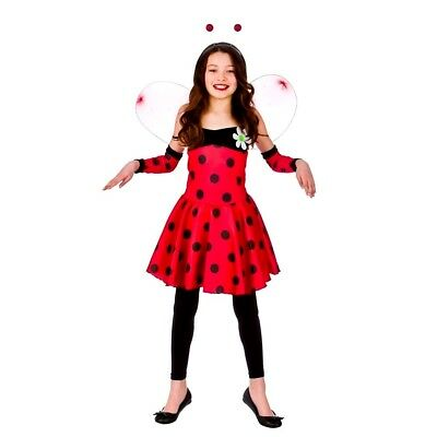 Child LOVELY LADYBUG LADYBIRD GIRL Fancy Dress Costume Outfit Book Week Age 3-10 • 11.45£
