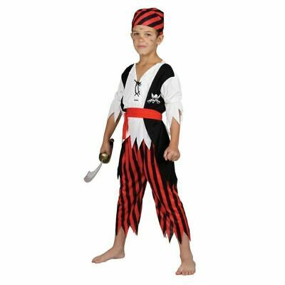 Child SHIPWRECK PIRATE Boys Fancy Dress Book Week Kids Costume Outfit Age 3-10 • 9.95£