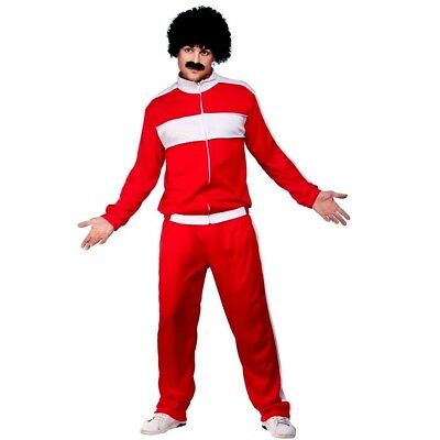 Adult SCOUSER TRACKSUIT Retro 1980s Red Fancy Dress Costume Shell Suit Mens  • 16.95£