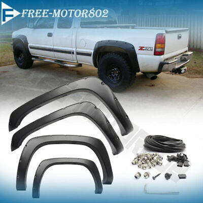 $78.97 • Buy Pocket Style Fender Flares Offroad 4X4 Fits 99-07 Chevy Silverado 1500 2500 3500