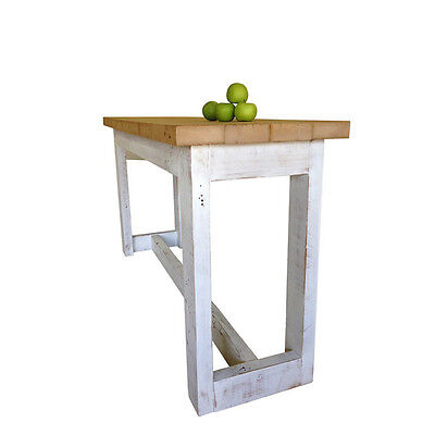 AU1250 • Buy Rustic Solid Timber Petite Kitchen Island High Bench Bar Dining Table 6 Seater